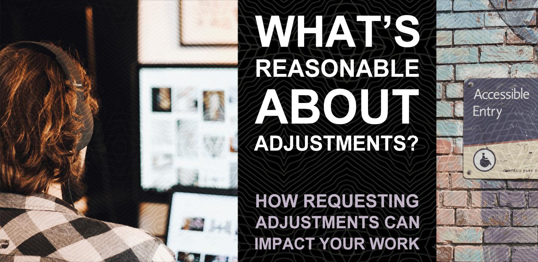 Reasonable Adjustments blog banner